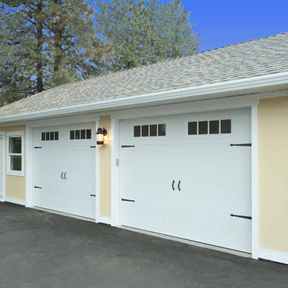 Side view of Carriage Craft garage door
